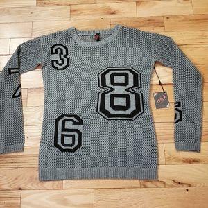 Yoki Open Knit Number Sweater 😎